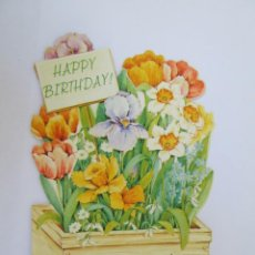 Postales - 3D HAPPY BIRTHDAY. FELIZ CUMPLEAÑOS. BON ANNIVERSAIRE. 1981 - 67361473