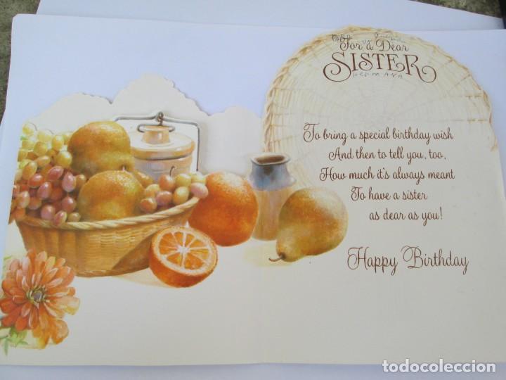 Happy Birthday Feliz Cumpleaños Bon Anniversaire ~ Happy birthday sister. feliz cumpleaños hermana comprar postales