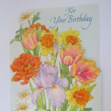 Postales: FLOWERS FOR YOUR BIRTHDAY. FLORES CUMPLEAÑOS. ANNIVERSAIRE. 1983. Lote 67454201