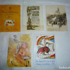 Postales: POSTALES O POSTAL DE HUELVA CARTEL FIESTAS COLOMBINAS Y CARTEL DE TOROS. Lote 67703157
