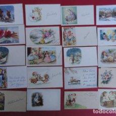 Postales: LOTE DE 20 MINIFELICITACIONES DE ANIVERSARIO AÑOS 60. . Lote 67913841