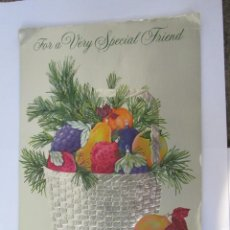 Postales: FOR A VERY SPECIAL FRIEND. PARA UN AMIGO MUY ESPECIAL. POUR UN AMI TRÈS SPÉCIAL. 1980. Lote 68185805