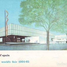 Postales: PABELLON DE ESPAÑA. FERIA MUNDIAL DE NUEVA YORK 1964-1965. Lote 140281773