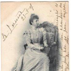 Postales: ANTIGUA POSTAL S.M. DOÑA MARÍA CRISTINA - REINA REGENTE - CIRC 1901 - SIN DIVIDIR 416 HAUSER Y MENET. Lote 107505224