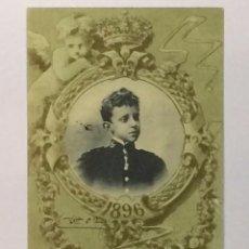Postales: TARJETA POSTAL CONMEMORATIVA 17 DE MAYO 1902 REY ALFONSO XIII Nº 7 1896 - MONARQUÍA HAUSER Y MENET. Lote 72786719