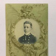 Postales: TARJETA POSTAL CONMEMORATIVA 17 DE MAYO 1902 REY ALFONSO XIII Nº 9 1901 - MONARQUÍA HAUSER Y MENET. Lote 72787987
