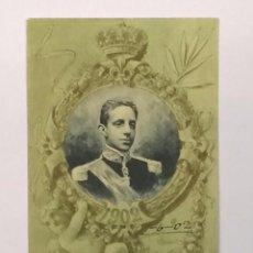 Postales: TARJETA POSTAL CONMEMORATIVA 17 DE MAYO 1902 REY ALFONSO XIII Nº 10 1902 - MONARQUÍA HAUSER Y MENET. Lote 72788283