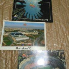 Postales: POSTALES CONMEMORATIVAS BARCELONA 92 3 UDS. Lote 77272991