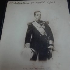 Postales: ANTIGUA POSTAL CIRCULADA SAN SEBASTIÁN 1903 SU MAJESTAD ALFONSO XIII. Lote 78886287