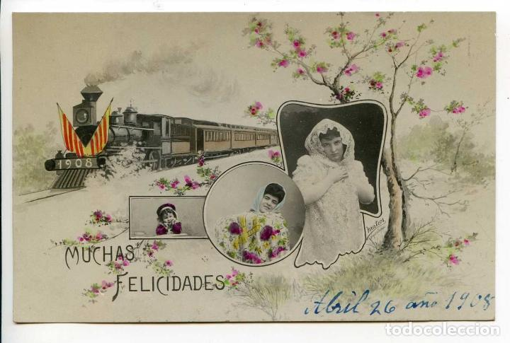 POSTAL CATALANISTA. ILUSTRACIÓN FIRMADA MATEOS, BARCELONA, 1908 (Postales - Postales Temáticas - Conmemorativas)