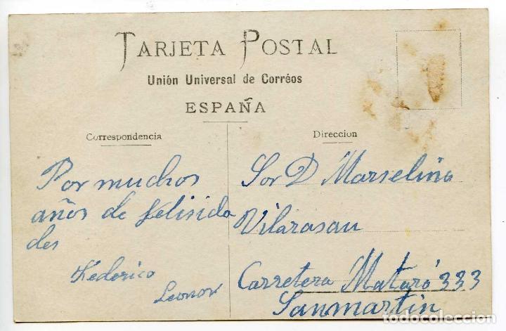 Postales: Postal catalanista. Ilustración firmada Mateos, Barcelona, 1908 - Foto 2 - 79641353