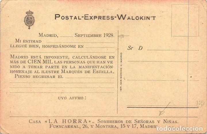 Postales: RECUERDO DEL GRANDIOSO HOMENAJE TRIBUTADO POR ESPAÑA A SU SALVADOR EXCMO SR. D. MIGUEL PRIMO DE RIVE - Foto 2 - 79848301