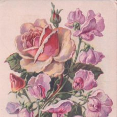 Postales: POSTAL RAMO DE FLORES - ANIVERSARIO - ESCRITA. Lote 193983577