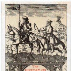 Postales: PS7517 POSTAL DE LA PRIMERA PORTADA DE EL QUIJOTE PUBLICADO EN LONDRES. PRINC. S. XX. Lote 82296532