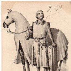 Postales: PS7528 POSTAL ILUSTRADA DE JAUME I - REY DE ARAGÓ. GARCÍA. CIRCULADA. 1906. Lote 82298952