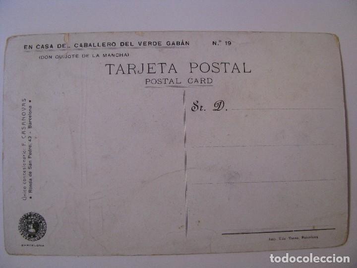 Postales: POSTAL DE EDITORIAL AMBOS MUNDOS. DON QUIJOTE. Nº 19. SIN CIRCULAR. - Foto 2 - 83034660