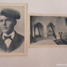 Postales: DOS POSTALES -TARJETA POSTAL - MOSÉN JACINTO VERDAGUER, SEMINARIO + HABITACIÓN SANTUARIO DE LA GLEVA. Lote 84621500