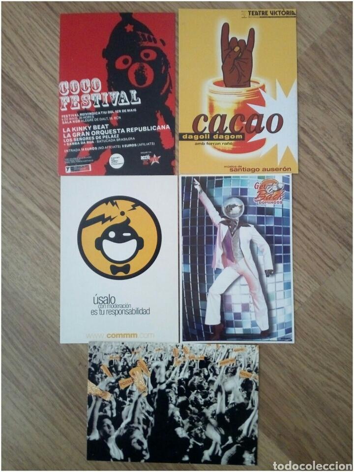 LOTE 5 POSTALES PUBLICITARIAS (Postales - Postales Temáticas - Conmemorativas)