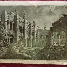 Postales: RUINAS DEL PATIO DE SANTA ENGRACIA ZARAGOZA. LOS SITIOS EN 1806. Lote 91508260