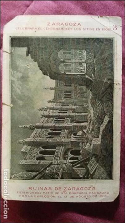 Postales: Ruinas del patio de Santa Engracia Zaragoza. Los Sitios en 1806 - Foto 2 - 91508260