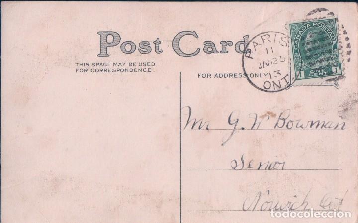 Postales: POSTAL PARA FELICITACION FELIZ CUMPLEAÑOS - CIRCULADA 1913 - ROSAS - Foto 2 - 92222770