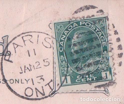 Postales: POSTAL PARA FELICITACION FELIZ CUMPLEAÑOS - CIRCULADA 1913 - ROSAS - Foto 3 - 92222770