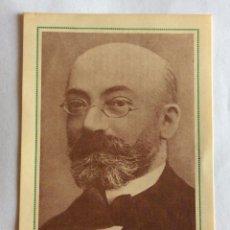 Postales: POSTAL PUBLICIDAD. DR. ZAMENHOF. FEDERACIÓN ESPAÑOLA DE ESPERANTO. VALENCIA. 1955.. Lote 93490415