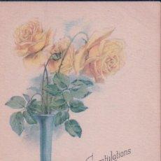 Postales: POSTAL CONGRATULATIONS TO YOUR BIRTHDAY 701 - MADE IN USA - FELIZ CUMPLEAÑOS - FLORES JARRON. Lote 96604299