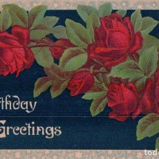 Postales: POSTAL FELIZ CUMPLEAÑOS - BIRTHDAY GREETINGS - SERIES 40. Lote 96874083