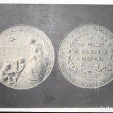 Postales: POSTAL DE LA MEDALLA CONMEMORATIVA DEL III CENTENARIO DE LA UNIVERSIDAD DE OVIEDO. 1908.. Lote 102499375