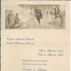 Postales: INVITACIÓN DE BODA AÑO 1963 - ILUSTRA FLORIT. Lote 103404047