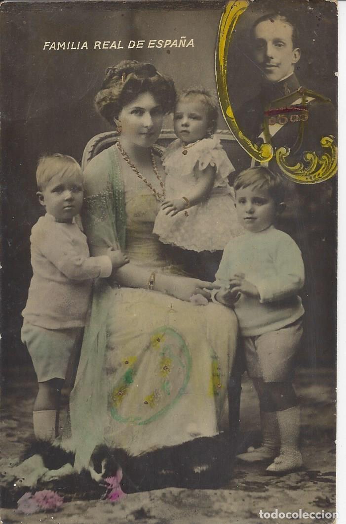 POSTAL FAMILIA REAL DE ESPAÑA. ALFONSO XII. AÑOS 20 (Postales - Postales Temáticas - Conmemorativas)