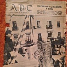 Postales: PORTADA ABC 30 DE DICIEMBRE 1972. CONMEMORACIÓN DE LA RECONQUISTA DE ALMERÍA. Lote 105493404
