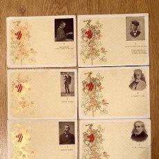 Postales: COLECCION 8 POSTALES JACNTO VERDAGER FAB. DE SOBRES Y LIBROS RAYADOS, TRE SEÑORAS 2.BARNA.1903-. Lote 108280071