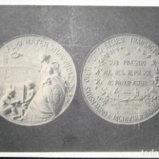 Postales: POSTAL DE LA MEDALLA CONMEMORATIVA DEL III CENTENARIO DE LA UNIVERSIDAD DE OVIEDO. 1908.. Lote 108832323