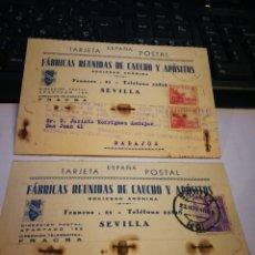 Postales: FABRICAS DE CAUCHO Y APÓSITOS. SEVILLA. 1940.. Lote 110379098