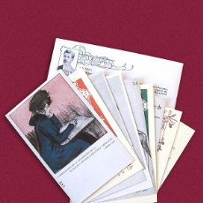 Postales: 9 POSTALES MODERNISTAS DE LA SOCIEDAD CARTOFILA HISPANIA - RAMON CASAS, ALEXANDRE DE RIQUER - 1901-. Lote 217665248