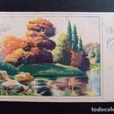 Postales: TARJETAS DE FELICIDADES -- PAISAJE AÑO 1951. Lote 114924707