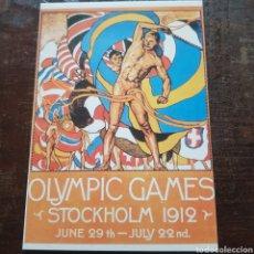 Postales: POSTAL CARTEL DE LOS JUEGOS OLÍMPICOS DE ESTOCOLMO 1912. OLIMPIADAS. Lote 114974972