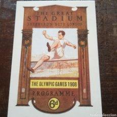 Postales: POSTAL CARTEL DE LOS JUEGOS OLÍMPICOS DE LONDRES 1908. OLIMPIADAS. Lote 114975079