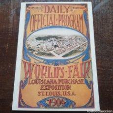 Postales: POSTAL REPRODUCCIÓN CARTEL DE LA EXPOSICIÓN MUNDIAL DE SAINT LOUIS 1904. Lote 114975322