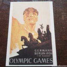 Postales: POSTAL CARTEL DE LOS JUEGOS OLÍMPICOS DE BERLÍN 1936. OLIMPIADAS. Lote 114975538