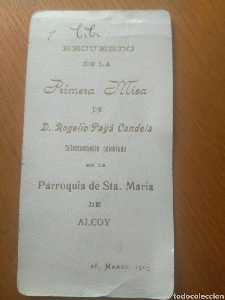 Postales: RECUERDO PRIMERA MISA ROGELIO PAYA CANDELA, PARROQUIA SANTA MARÍA ALCOY AÑO 1905 - Foto 2 - 116326092