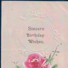 Postkarten - POSTAL SINCERE BIRTHDAY WISHES - MI SINCERO FELIZ CUMPLEAÑOS - CIRCULADA - 118986119
