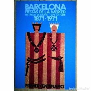 Postal centenario fiestas de la merced 1871 - 1971 festes de la merce 16x11