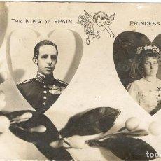 Postales: POSTAL CONMEMORATIVA BODA DEL REY ALFONSO XIII Y VICTORIA EUGENIA DE BATTENBERG - AÑO 1906. Lote 121481075