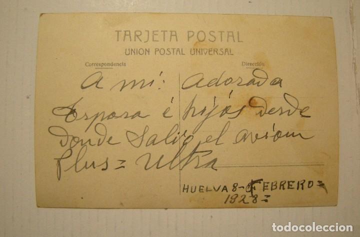 Postales: VIAJE DEL PLUS ULTRA FEBRERO DE 1926 ESPAÑA - ARGENTINA POSTAL FOTOGRAFICA CIRCULADA - Foto 2 - 121545971