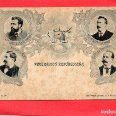 Postales: FEDERACIÓN REPUBLICANA. J. E. PUIG. Lote 126862099