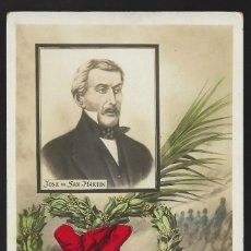 Postales: POSTAL, JOSE DE SAN MARTIN, RECUERDO DEL CENTENARIO 1810 - 1910. ESCRITA DE BUENOS AIRES 1910.. Lote 127440075