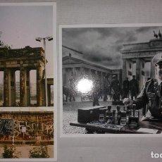 Postales: LOTE 2 POSTALES SOUVENIR RECORDATORIO DEL MURO DE BERLIN Y LA R.D.A.. Lote 128495499